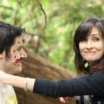 Action shot of makeup for dead rotting body for Newly Weds by Adelaide mobile hair and makeup artist Make-Overs Australia