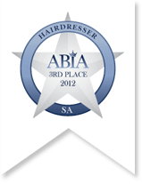 Australian Bridal Industry Awards Hair Styling 3rd place 2012