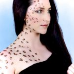 Leopard print makeup by Adelaide mobile hair and makeup artist Make-Overs Australia