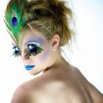 Peacock hair and makeup by Adelaide mobile hair and makeup artist Make-Overs Australia
