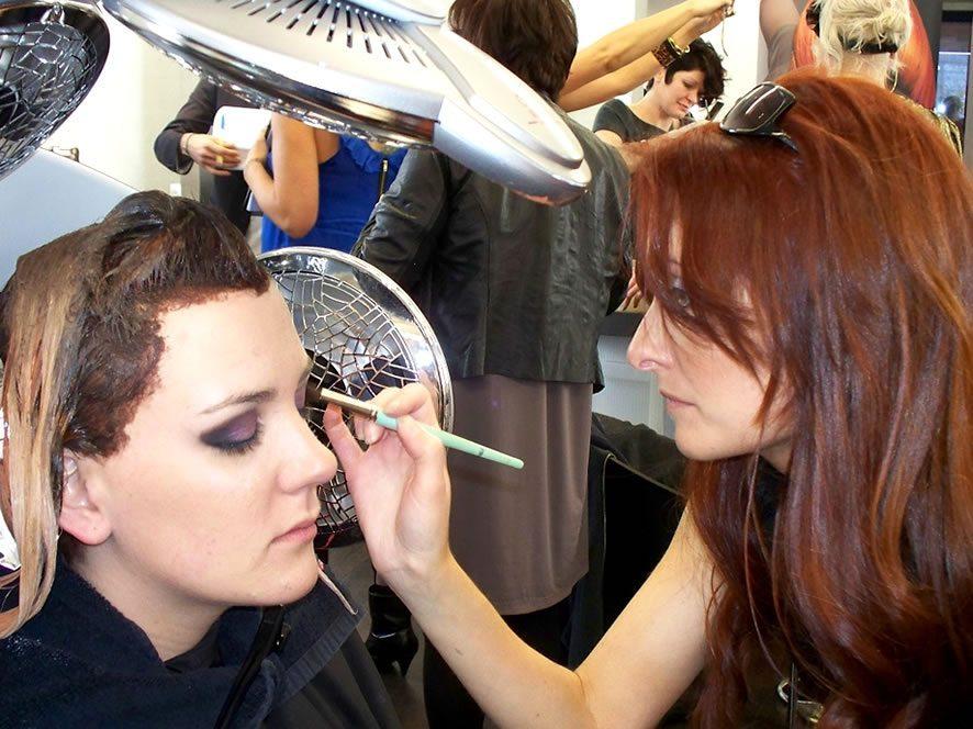 manual makeup application