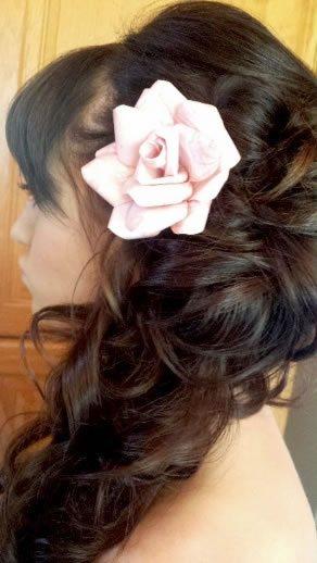 wedding hair styles - romantic curly side sweep