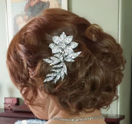 wedding hair styles - Curled side swept bun - 03
