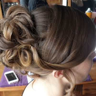 wedding hair styles - High curled bun