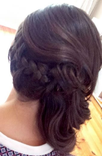 wedding hair styles - with braid added 01