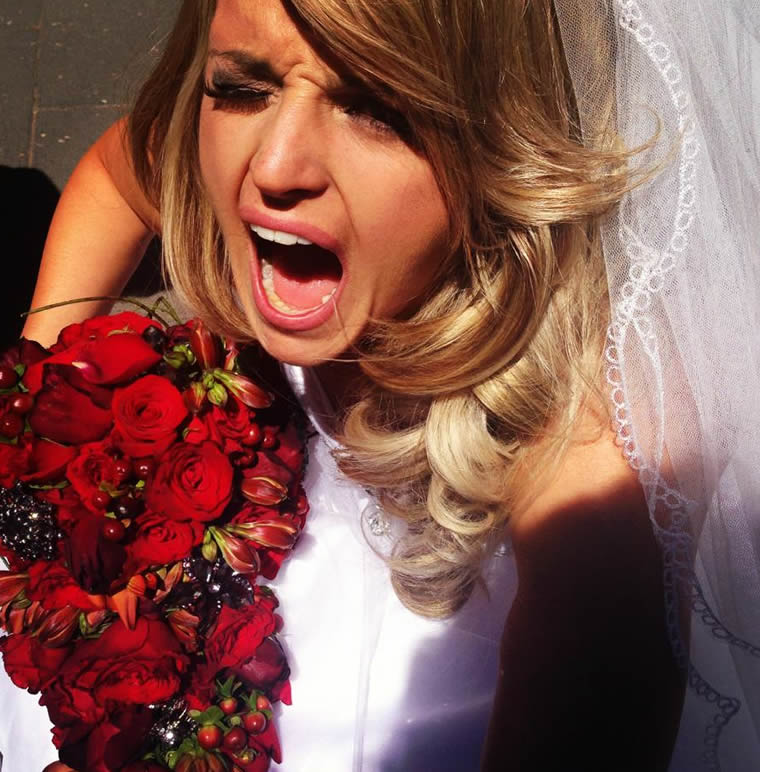 Yelling Bride wedding regrets