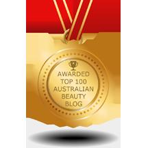 Top 100 Australian Beauty Blog Award